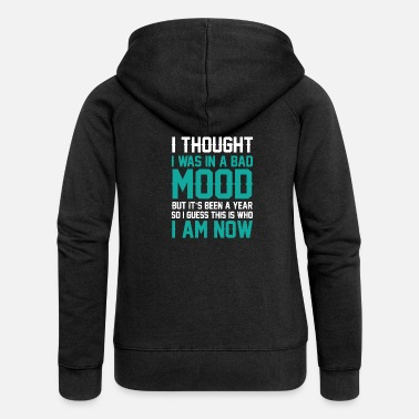 Mood Bad mood - Women's Premium Zip Hoodie