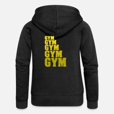 Gym Gym Gym Gym Gym Gym Fitess Gym weights - Women's Premium Zip Hoodie