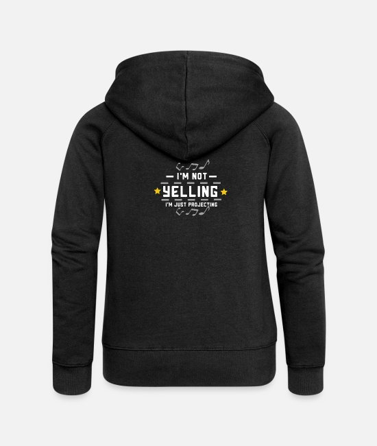Movie Hoodies & Sweatshirts - Theater I'm Not Yelling Funny Gift - Women's Premium Zip Hoodie black