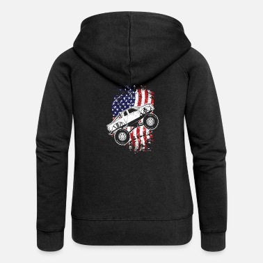 Monster Truck Roar Monster Truck Car Crusher Gift Design Idea - Women's Premium Zip Hoodie