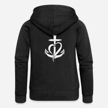Jesus Trust christian and religious person gift - Women's Premium Zip Hoodie