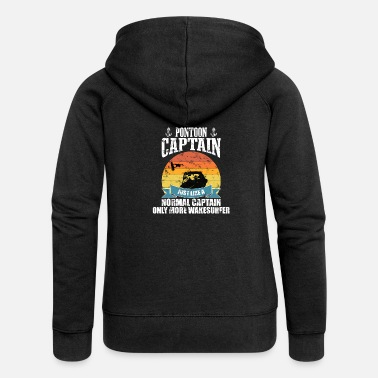 Sale pontoon captain just like a normal captain only - Women's Premium Zip Hoodie