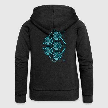 Psy Trance Psychedelic - Women's Premium Hooded Jacket