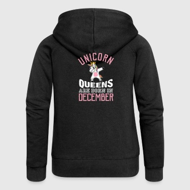 December Unicorn Queens Are Born In December - Women's Premium Hooded Jacket