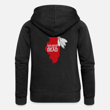 Red black and red til im cold and dead - Women's Premium Zip Hoodie