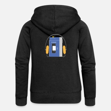 Walkman Stereo walkman in blue - Women's Premium Zip Hoodie