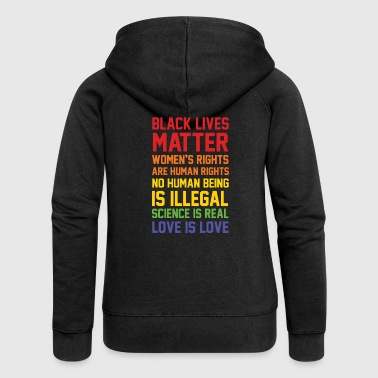 BLACK LIVES MATTER LIST SHIRT - Women's Premium Hooded Jacket