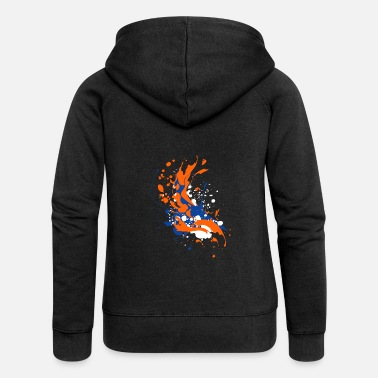 Paint Splatter Paint splash splatter paint splash abstract gift - Women's Premium Zip Hoodie