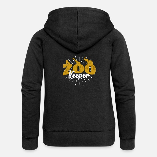 Keeper Hoodies & Sweatshirts - zoo keeper - Women's Premium Zip Hoodie black