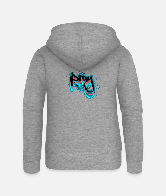 Theology Hoodies & Sweatshirts - Pray - Women's Premium Zip Hoodie heather grey