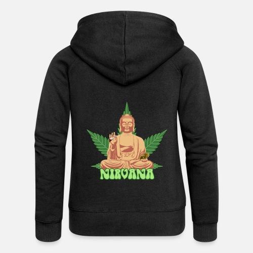 Nirvana Con 420 Capucha Mujer Premium Chaqueta Spreadshirt F7wgqRFx