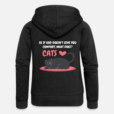 Atheism Atheist atheism cat hangover puss funny - Women's Premium Zip Hoodie