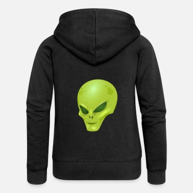 Scifi Alien extraterrestrial scifi - Women's Premium Hooded Jacket