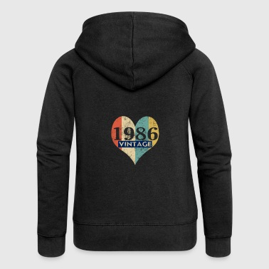 1986 Vintage 1986 Retro - Women's Premium Hooded Jacket