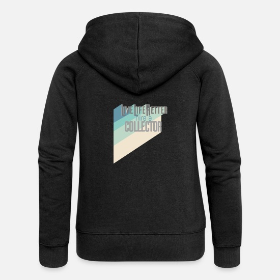 Birthday Hoodies & Sweatshirts - Collectible - Women's Premium Zip Hoodie black