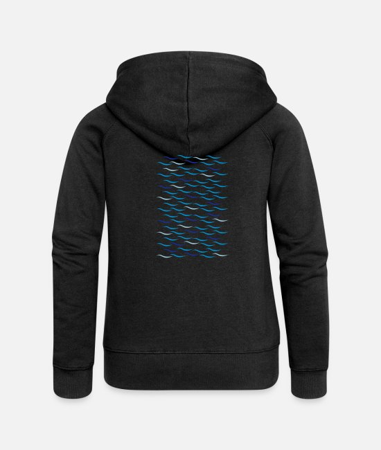 Dive Hoodies & Sweatshirts - Waves - Women's Premium Zip Hoodie black