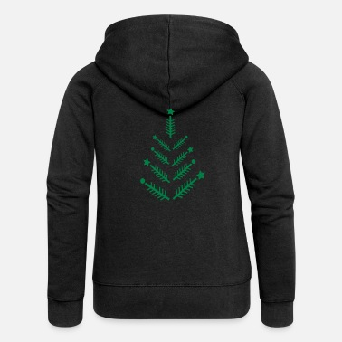 Merry Christmas xmas tree c1 - Women's Premium Zip Hoodie