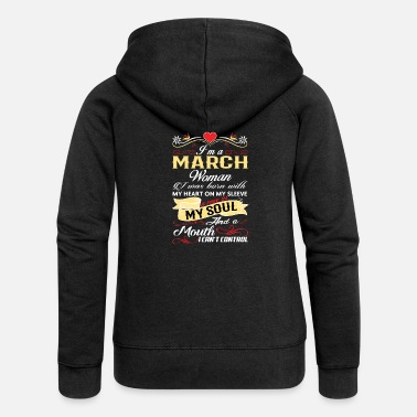Womans March MARCH WOMAN - Women's Premium Zip Hoodie