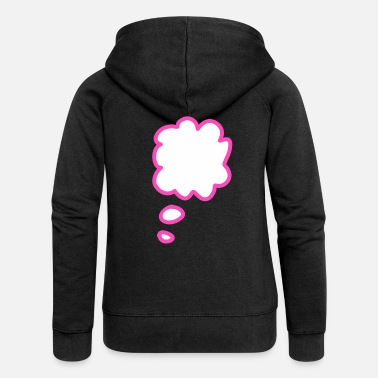 Thought Bubble Thought bubble - Women's Premium Zip Hoodie