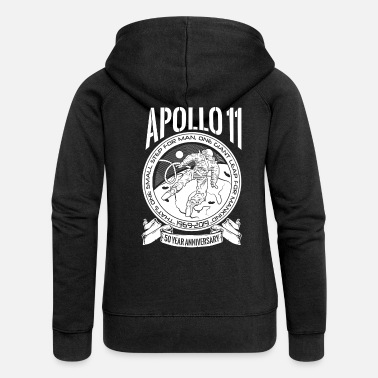 Production Year Apollo Moon Landing 50 Years Anniversary product - Women's Premium Zip Hoodie