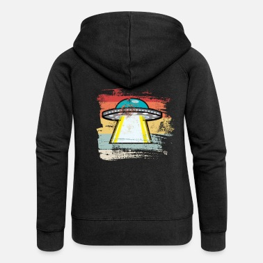 Outerspace Retro Outerspace - Women's Premium Zip Hoodie