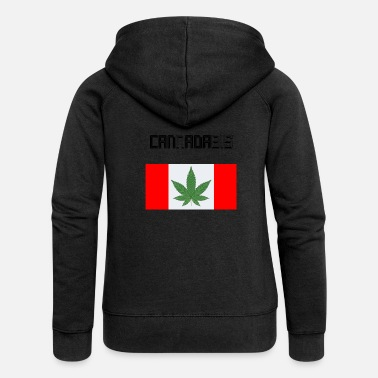 Cannabis Cannabis Cannabis Gift Cannabis Legal - Felpa con zip premium da donna