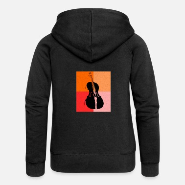 Cello Cello cello player - Women's Premium Zip Hoodie