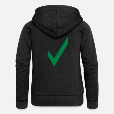 Checklist check - check mark - tick - Women's Premium Zip Hoodie