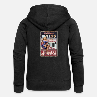 Pin up Get your Willys - Frauen Premium Kapuzenjacke