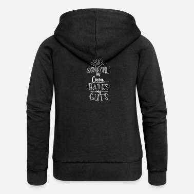 Gut Someone In Cocoa Hates My Guts - Women's Premium Zip Hoodie