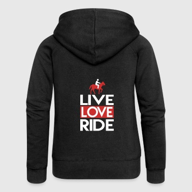 Live Love Ride Live Love Ride Horse Riding Club - Women's Premium Hooded Jacket