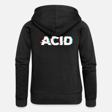 Trance Acid Glitch Music Celebrate Party Festival Rave Wear - Vrouwen zip hoodie