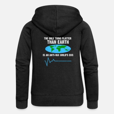 Flat Flat Earth - Women's Premium Zip Hoodie