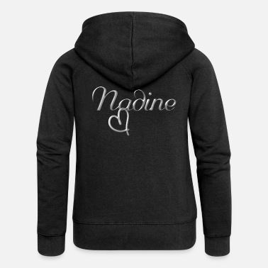 Name Day Nadine name first name name day - Women's Premium Zip Hoodie