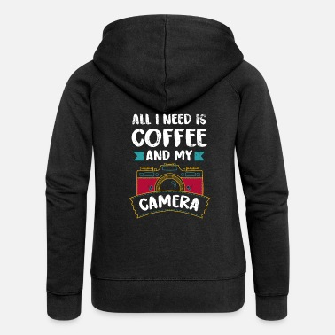 Photography Funny camera photography photographer gift - Women's Premium Hooded Jacket