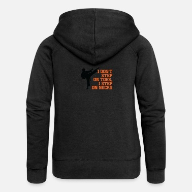 Step Brothers I Don't Step On Toes, I Step On Necks! - Women's Premium Hooded Jacket