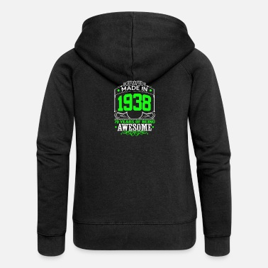Awesome Made In 1938 79 Years of being awesome - Women's Premium Zip Hoodie
