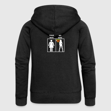 Zimbabwe Zimbabwe gift my wife your wife - Women's Premium Hooded Jacket