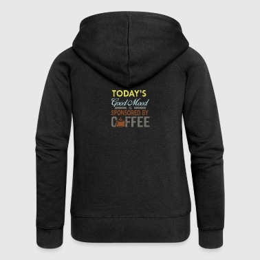 coffe Lovers - Felpa con zip premium da donna