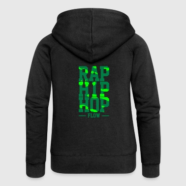 Rap Hip Hop Flow - Women's Premium Hooded Jacket