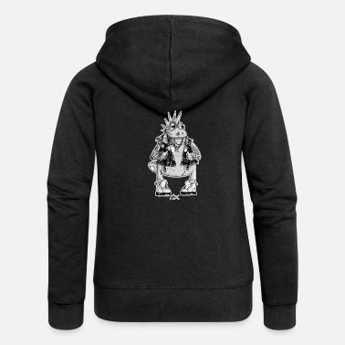 Black And White Collection V2 Casimir was a punk - Women's Premium Zip Hoodie