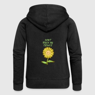 Do not touch my flower - Women's Premium Hooded Jacket
