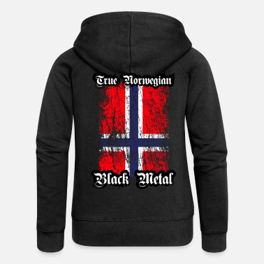 Black Metal Trve/ True Norwegian Black Metal - Frauen Premium Kapuzenjacke