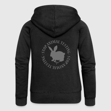 STOP ANIMAL TESTING - Women's Premium Hooded Jacket