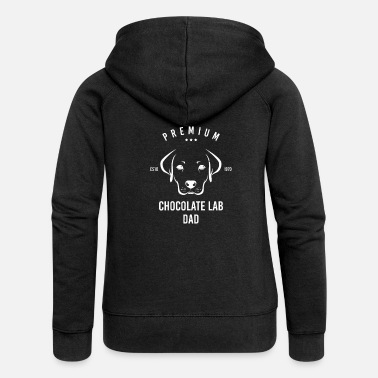 Labrador retriever dad father dog owner - Women's Premium Zip Hoodie