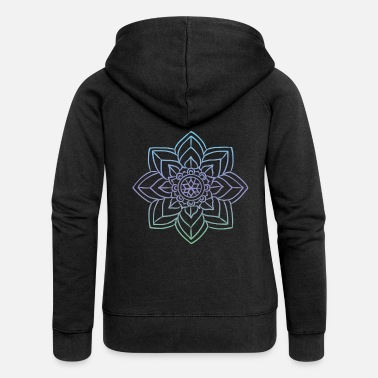 Baby Mandala artwork for art history - Women's Premium Zip Hoodie