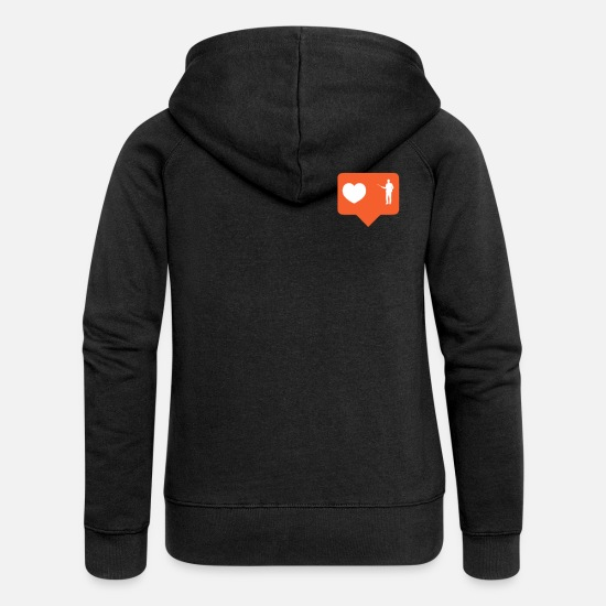 Professor Hoodies & Sweatshirts - professor - Women's Premium Zip Hoodie black