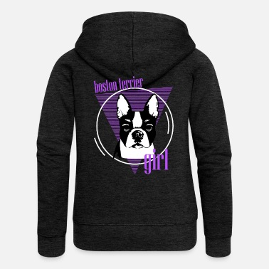 We Are Boston Terriers, Boston Terriers, Dogs For Boston Terriers - Women's Premium Zip Hoodie