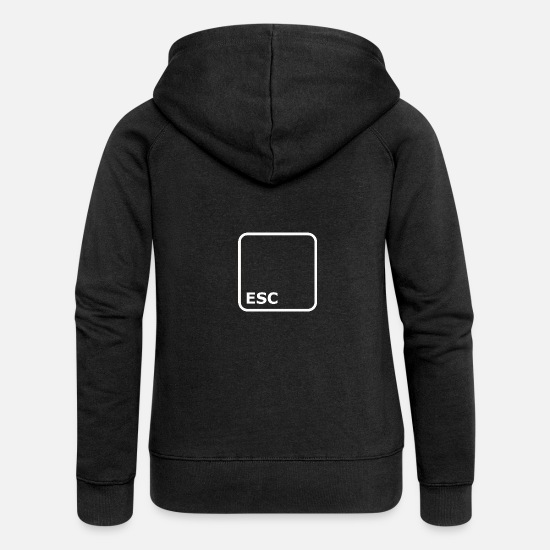 Key Hoodies & Sweatshirts - ESC BUTTON ESCAPE - Women's Premium Zip Hoodie black