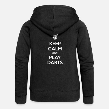 Keep Calm and Play Darts - Frauen Premium Kapuzenjacke